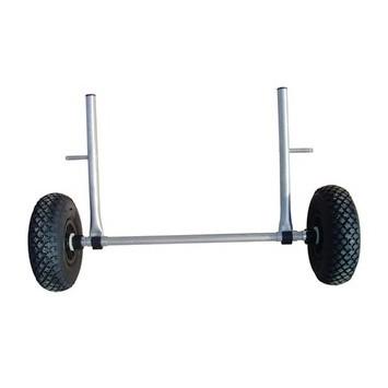 Chariot inox roues gonflables, pour autovideur