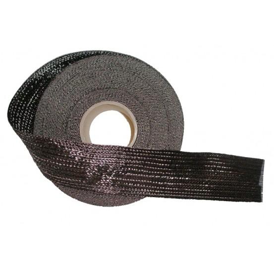 Tresse plate carbone 5cm.