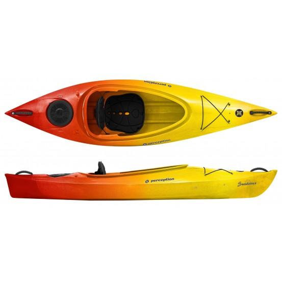 kayak de rivière ponté monoplace Sundance Perception