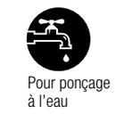 Logo abrasif à l'eau.